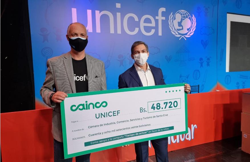 CAINCO suma su apoyo a la campaña de UNICEF en favor de los niños más vulnerables